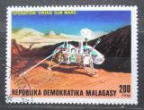 Poštovní známka Madagaskar 1976 Průzkum Marsu Mi# 816