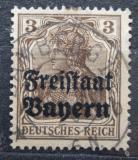 Poštovní známka Bavorsko 1919 Germania přetisk Mi# 137