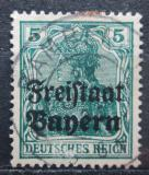 Poštovní známka Bavorsko 1919 Germania přetisk Mi# 138