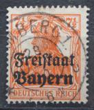 Poštovní známka Bavorsko 1919 Germania přetisk Mi# 139