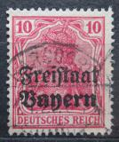 Poštovní známka Bavorsko 1919 Germania přetisk Mi# 140