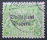 Poštovní známka Bavorsko 1919 Státní znak přetisk, úřední Mi# 31