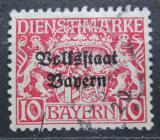 Poštovní známka Bavorsko 1919 Státní znak přetisk, úřední Mi# 33
