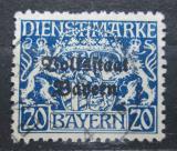 Poštovní známka Bavorsko 1919 Státní znak přetisk, úřední Mi# 35