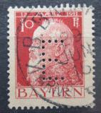 Poštovní známka Bavorsko 1912 Luitpold Bavorský, úřední Mi# 8