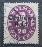 Poštovní známka Německo 1920 Bavorsko přetisk , úřední Mi# 37