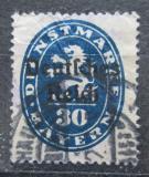 Poštovní známka Německo 1920 Bavorsko přetisk , úřední Mi# 38