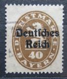 Poštovní známka Německo 1920 Bavorsko přetisk , úřední Mi# 39