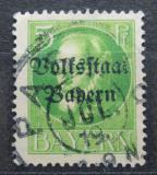 Poštovní známka Bavorsko 1919 Král Ludvík III. přetisk Mi# 117 II A