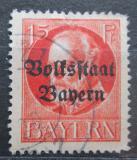 Poštovní známka Bavorsko 1919 Král Ludvík III. přetisk Mi# 120 II A