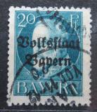 Poštovní známka Bavorsko 1919 Král Ludvík III. přetisk Mi# 121 II A
