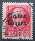 Poštovní známka Bavorsko 1919 Král Ludvík III. přetisk Mi# 155 A
