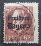 Poštovní známka Bavorsko 1919 Král Ludvík III. přetisk Mi# 161 A