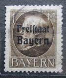 Poštovní známka Bavorsko 1919 Král Ludvík III. přetisk Mi# 165 A