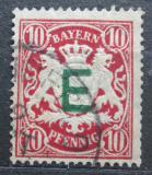 Poštovní známka Bavorsko 1908 Státní znak, služební Mi# 3