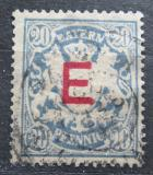Poštovní známka Bavorsko 1908 Státní znak, služební Mi# 4