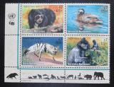 Poštovní známky OSN Vídeň 2001 Ohrožená fauna Mi# 327-30
