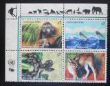 Poštovní známky OSN Vídeň 1999 Ohrožená fauna Mi# 287-90