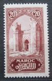 Poštovní známka Francouzské Maroko 1917 Městská brána Chella Mi# 27