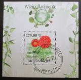Poštovní známka Mozambik 2010 Peonie Mi# Block 290 Kat 10€