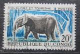 Poštovní známka Kongo 1965 Slon africký Mi# 65