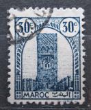 Poštovní známka Francouzské Maroko 1943 Hassanova věž v Rabatu Mi# 189