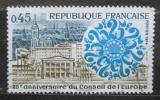 Poštovní známka Francie 1974 Evropský parlament ve Štrasburku Mi# 1872