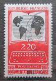 Poštovní známka Francie 1985 Mapa světa Mi# 2522
