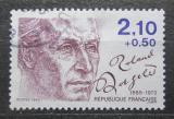 Poštovní známka Francie 1985 Roland Dorgeles, spisovatel Mi# 2487