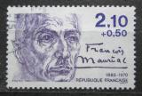 Poštovní známka Francie 1985 Francois Mauriac, spisovatel Mi# 2489