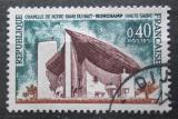 Poštovní známka Francie 1964 Kostel Ronchamp Mi# 1483