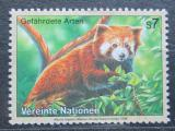 Poštovní známka OSN Vídeň 1998 Panda červená Mi# 251