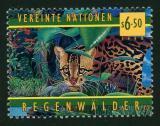 Poštovní známka OSN Vídeň 1998 Ocelot velký Mi# 264