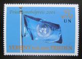 Poštovní známka OSN Vídeň 2001 Vlajka OSN Mi# 350