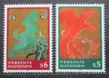 Poštovní známky OSN Vídeň 1997 Umění, Sagenji Yoshida Mi# 220-21