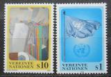 Poštovní známky OSN Vídeň 1996 Umění a vlajka OSN Mi# 203-04