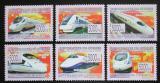 Poštovní známky Guinea 2008 Moderní čínské lokomotivy Mi# 6053-58 Kat 12€