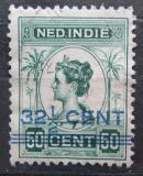 Poštovní známka Nizozemská Indie 1921 Královna Wilhelmina přetisk Mi# 135
