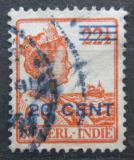 Poštovní známka Nizozemská Indie 1921 Královna Wilhelmina přetisk Mi# 134