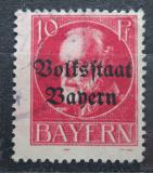Poštovní známka Bavorsko 1919 Král Ludvík III. přetisk Mi# 119 II A
