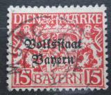 Poštovní známka Bavorsko 1919 Státní znak přetisk, úřední Mi# 34