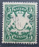 Poštovní známka Bavorsko 1890 Státní znak Mi# 61