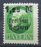 Poštovní známka Bavorsko 1919 Král Ludvík III. přetisk Mi# 174 A