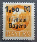 Poštovní známka Bavorsko 1919 Král Ludvík III. přetisk Mi# 175 A