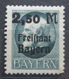 Poštovní známka Bavorsko 1919 Král Ludvík III. přetisk Mi# 176 A