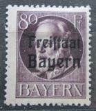 Poštovní známka Bavorsko 1919 Král Ludvík III. přetisk Mi# 164 A