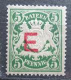 Poštovní známka Bavorsko 1908 Státní znak přetisk, služební Mi# 2