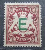 Poštovní známka Bavorsko 1908 Státní znak přetisk, služební Mi# 5 Kat 6€