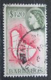 Poštovní známka Barbados 1956 Mapa Mi# 214 Kat 3.60€