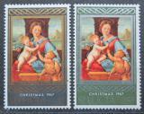 Poštovní známky Svatá Lucie 1968 Vánoce, umění, Raffael Mi# 219-20
